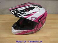 FOX Crosshjelm Pink/sort/hvid M